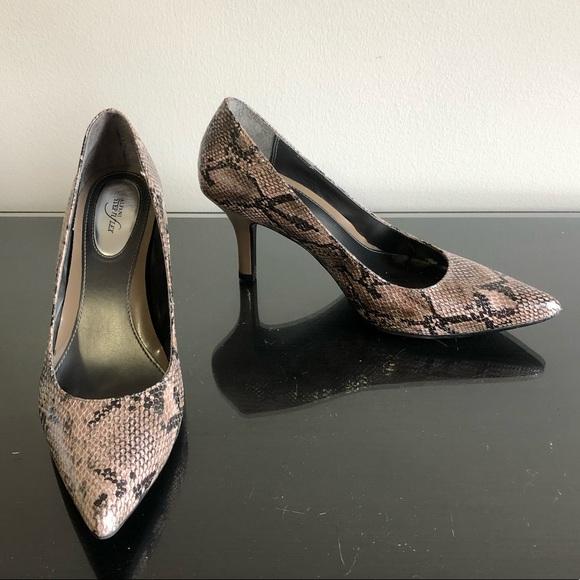 d64717dbc14 🌎 Alfani gray snakeskin heels